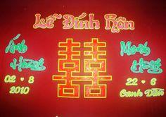 Vietnamese wedding wall