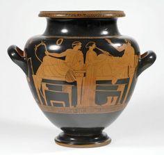 Stamnos 460–450 BC Kensington Painter Greek, Attic, active c.450-420 BC Earthenware