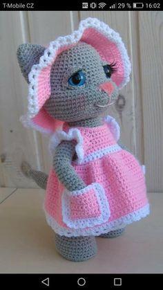 PATTERN: Kitty Candy crochet pattern - Donate Car to Charith California Crochet Bunny Pattern, Crochet Mouse, Crochet Teddy, Crochet Animal Patterns, Stuffed Animal Patterns, Crochet Patterns Amigurumi, Cute Crochet, Crochet Dolls, Knitting Patterns