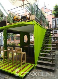 Container House - Quiosq … - Who Else Wants Simple Step-By-Step Plans To Design And Build A Container Home From Scratch? Container Architecture, Container Buildings, Container Houses, Sustainable Architecture, Contemporary Architecture, Cafe Design, House Design, Kiosk Design, Coffee Shop Design