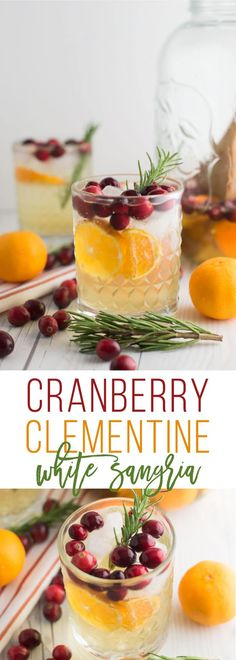 Cranberry Clementine White Sangria -- This festive cocktail recipe is perfect for all your holiday gatherings. With less than 5 ingredients you can create a light and refreshing beverage that keeps your spirits bright. | mindfulavocado