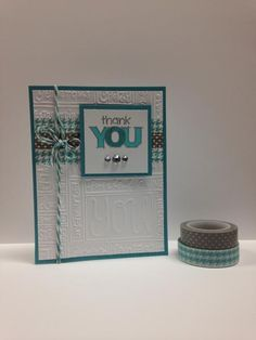 A Washi Thank You by jenbob777 - Cards and Paper Crafts at Splitcoaststampers