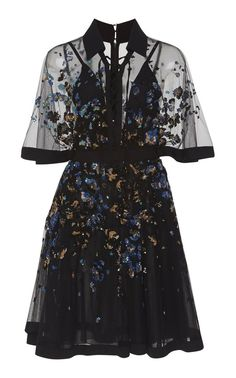 shop elie saab embroidered bell sleeve mini dress floral starting at 7450 si - Life ideas Pretty Outfits, Pretty Dresses, Beautiful Dresses, Cute Outfits, Mini Dresses, Mini Dress Formal, Vintage Formal Dresses, Dresses With Sleeves, Dress Outfits