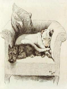 Cecil Aldin (1870-1935) - Pet Chair