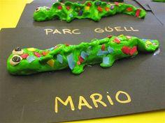 DRAC PARC GÜELL - GAUDÍ - Material: plastilina - Nivell: Infantil 2 2013-14