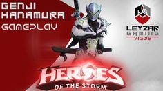 Heroes of the Storm (Gameplay) - Genji on Hanamura (HotS Genji and Hanam...