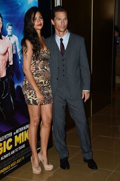 Matthew McConaughey and pregnant Camila Alves at a Magic Mike premiere in London