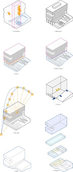 Image 7 of 14 from gallery of MOBO Architects Win Competition to Design Government Building in Bogotá, Colombia., Courtesy of MOBO Architects Architecture Concept Diagram, Architecture Presentation Board, Architecture Graphics, Architecture Board, Architecture Drawings, Presentation Design, Architecture Details, Architecture Diagrams, Computer Architecture