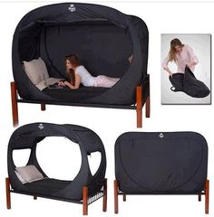 Portable canopy bed