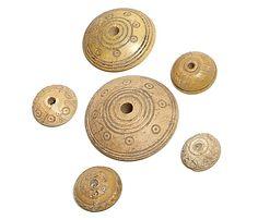 Roman Bone Spindle Whorls, Period: 1st-4th century AD, Dimensions: 44-18mm