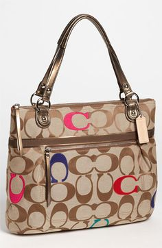COACH 'Poppy Signature Glam' Tote