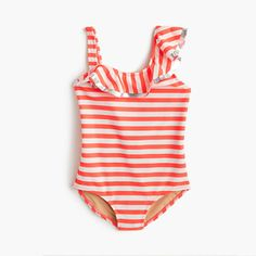 fd127e30a1 Girls' ruffle one-piece swimsuit in stripe - swim -Girls. Baby Girl  SwimsuitGirls ShoppingKids SwimwearSwimsuitsBikinisPolyester ...