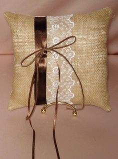 BURLAP LEATHER AND LACE  RING  PILLOW THESE ITEMS ARE AVAILABLE IN MY EBAY STORE  GIDESIGNS  . THEY CAN BE CUSTOM MADE WITH YOUR CHOICE OF COLORS. YOU CAN ALSO ADD ADDITIONAL ITEMS TO THE BASIC SET. CHECK OUT MY STORE FOR MANY WONDERFUL CUSTOM MADE BRIDAL ACCESSORIES TO MAKE YOUR WEDDING DAY A UNIQUE AND WONDERFUL EXPERIENCE.  GREAT PRICES.