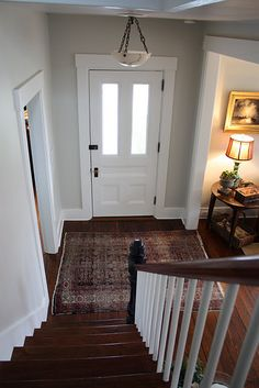 entry way paint - ben moore ashwood