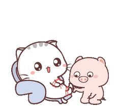 LINE Creators' Stickers - Wen small meow 8 Example with GIF Animation Cute Baby Cats, Cute Babies, Cat Noises, Grey And White Cat, Cute Love Gif, Cute Love Cartoons, Cute Chibi, Line Sticker, Cute Characters