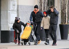 What a family: David Beckham and his boys Brooklyn, Romeo and Cruz doted on three-year-old daughter/Sister