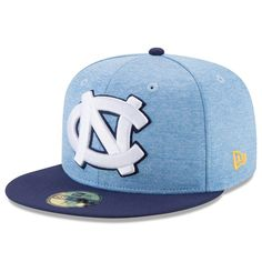 4608b501f75 North Carolina Tar Heels New Era Heathered Huge Logo Fitted Hat - Carolina  Blue #NorthCarolinaTarHeels