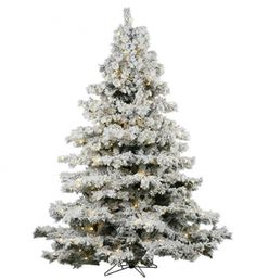 Shop for Vickerman Flocked White-on-Green PVC Flocked Alaskan Pine Artificial Christmas Tree with 1200 Warm White LED Lights. Get free delivery On EVERYTHING* Overstock - Your Online Christmas Store! Get in rewards with Club O! 5 Foot Christmas Tree, Christmas Store, Green Christmas, Christmas Ideas, Christmas Gifts, Merry Christmas, Holiday Tree, Christmas Morning, Country Christmas