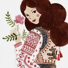 Planning a shop update by the end of the month. this lady will be there too. Guache, Medium Art, Traditional Art, Diy Art, Art Images, Wall Art Prints, Folk Art, Watercolor Paintings, Illustration Art
