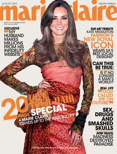 Dear world, please stop it with the weird Kate Middleton magazine covers. Kate Middleton, as illustrated on the cover of Marie Claire South Africa. Kate Middleton Husband, Kate Middleton Latest, Kate Middleton Style, Marie Claire, Princesa Kate Middleton, Mario Testino, Duchess Kate, Duchess Of Cambridge, Photoshop Fail