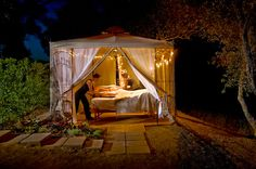 The Wine Country Inn is happy to offer Napa Valley elopement packages for Napa Valley weddings and romantic honeymoon getaways in Wine Country. Massage Therapy Rooms, Massage Room, Spa Massage, Lomi Lomi, Honeymoon Getaways, Tent Decorations, Spa Rooms, Spa Design, Spa Services