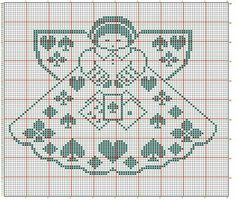 Angel with Playing Cards Cross Stitch Angels, Cross Stitch Tree, Cross Stitch Charts, Cross Stitch Christmas Ornaments, Christmas Cross, Needlepoint Kits, Needlepoint Canvases, Modern Embroidery, Embroidery Patterns