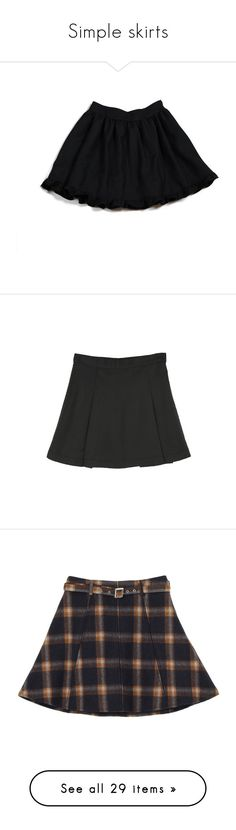 """Simple skirts"" by bambietta ❤ liked on Polyvore featuring milk, skirts, bottoms, inc international concepts, bubble skirts, frilly skirt, flounce skirt, ruffle skirt, frill skirt and flouncy skirt"