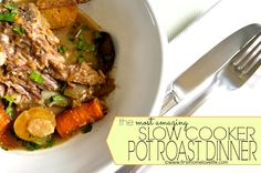 The MOST AMAZING Crock Pot- Pot Roast Dinner #crockpot #potroast #recipes
