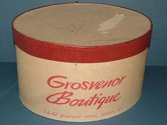 1950s Hat Box from the Grosvenor Boutique by BiminiCricket on Etsy, $45.00
