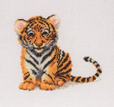 Cute Little Tiger Cub - Anchor Cross Stitch kit