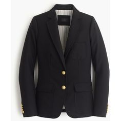 J.Crew Petite Rhodes Blazer (464 AUD) ❤ liked on Polyvore featuring outerwear, jackets, blazers, petite, slim fit blazer, slim blazer, fitted blazer, j.crew and evening jackets