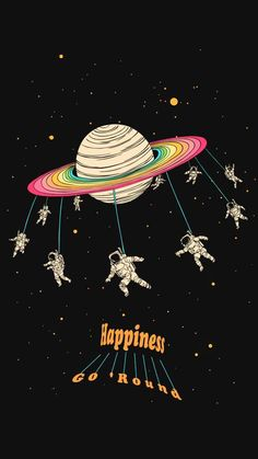 Happiness Go Round Illustration - #cosmicthreads