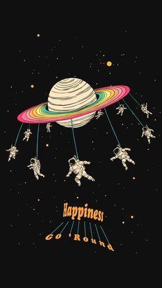 Happiness Go Round Illustration - #cosmicthreads