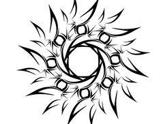 Tribal Sun tattoo