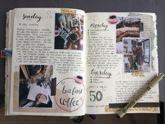 Great Idea for my gratitude journal. Bullet Art, Bullet Journal Layout, Bullet Journal Inspiration, Bullet Journals, Photo Journal, Journal Pages, Journal Ideas, Journaling, Organization Bullet Journal