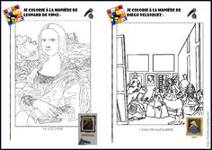 Histoire des arts: LE LOUP QUI ENQUETAIT AU MUSEE- coloriages, fiches artistes/oeuvres Arts And Crafts For Teens, Art For Kids, Creative Teaching, Teaching Art, Art History Memes, Ecole Art, History Teachers, Art Lesson Plans, French Art