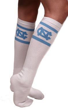 School House UNC Tube Socks shopschoolhouse.com #UNC #Tarheels