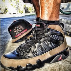 Air Jordan 9 Retro 'OLIVE' Custom Sneakers Ⓙ_⍣∙₩ѧŁҝ!₦ǥ∙⍣