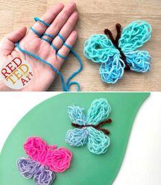 hemos reunido los proyectos más lindos para tejer con los dedos y tú * wir haben die süßesten fingerstrickprojekte für sie zusammengefasst Finger Knitting Projects, Knitting Blogs, Knitting Patterns, Scarf Patterns, Knitting Tutorials, Knitting Ideas, Knitting Needles, Knitting Yarn, Free Knitting