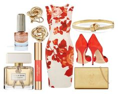 """""""Fury"""" by xoxbiaxox ❤ liked on Polyvore featuring Karen Millen, Jimmy Choo, Blue Nile, Estée Lauder, Yves Saint Laurent, Givenchy, Floss Gloss and Carelle"""