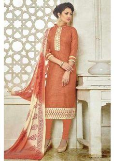orange, bhagalpuri couleur costume coton churidar, -  71,00 €,  #Robeindienne  #Salwarkameezmariage  #Salwarkameezfemme  #Shopkund
