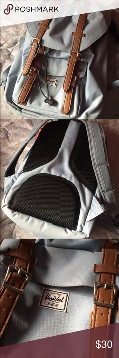 Hershel backpack for sale!!! Baby blue backpack for sale! In pretty good condition. Does have a minor rip. Herschel Supply Company Bags Backpacks