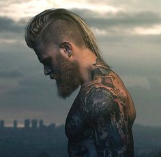 Mohawk for long hair with undercuts