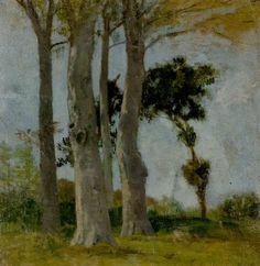 """Eugène BOUDIN (1824-1898), Etude pour """"Honfleur, la Côte de Grâce"""", ca. 1856, huile sur bois, 29,8 x 31,1 cm. © MuMa Le Havre / Florian Kleinefenn"""