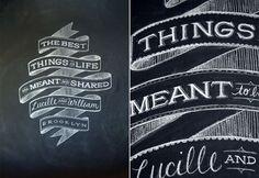 blackboard custom caligraphy (Dana Tanamachi)