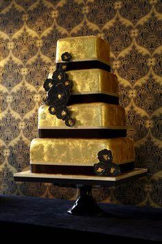 gold leaf cake!