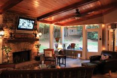 Decorating a Screened in Porch | Related Post from Screened In Porch Ideas With Fireplace- Things To ...