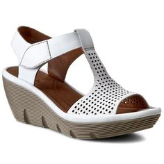 Sandale CLARKS - Clarene Diva 261085774 White Leather