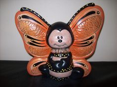 Hand+Painted+Ceramic+Butterfly+by+Cinstreasures+on+Etsy,+$24.50