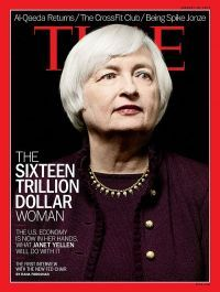"""It looks like Time just hinted at who its man, er woman, of 2014 will be with its just released cover showcasing Janet Yellen """"The Sixteen Trillion Dollar Woman"""" which wraps her first interview since being confirmed as Fed chair. Janet Yellen, Time Magazine, Magazine Covers, Trophy Wife, Successful Women, Women In History, Other Woman, Covergirl, Powerful Women"""